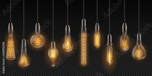 Realistic Light Bulbs Vintage Lamps