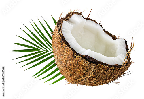 Pinturas sobre lienzo  coconuts isolated on the white background