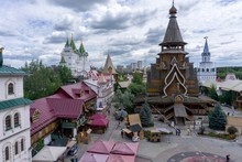 Moscow Izmailovsky. Souvenir Market