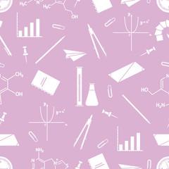 Scientific, educational vector seamless pattern.