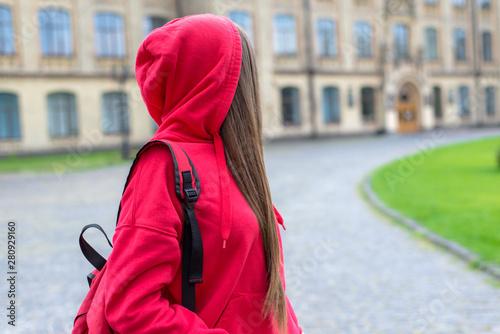 Fotografie, Tablou  Side profile photo of sad unhappy sad regretful teen teenager hipster person loo