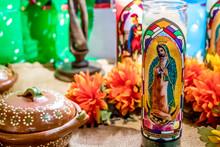 Closeup Of An Altar With Saint...