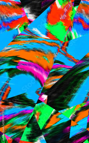 Fototapety, obrazy: Abstract design with art and texture elements