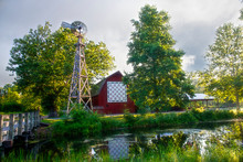 Bonneyville Mill County Park Quilt Barn And Windmill