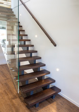 Modern Wooden Staircase With L...