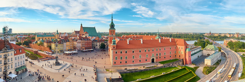 Fotografiet Aerial view of old town in Warsaw, Poland