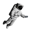 astronaut during space walk, isolated on white background