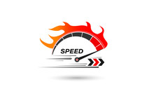 Speed Of Flaming Speedometer F...