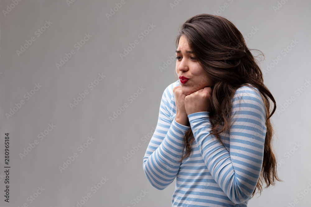 Fototapeta Young woman with a passionate crush or fancy