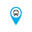 Transport buttons set with map Vector illustration