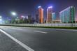 empty city road at night