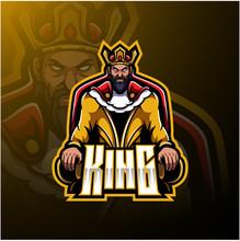 The King Mascot Logo Design