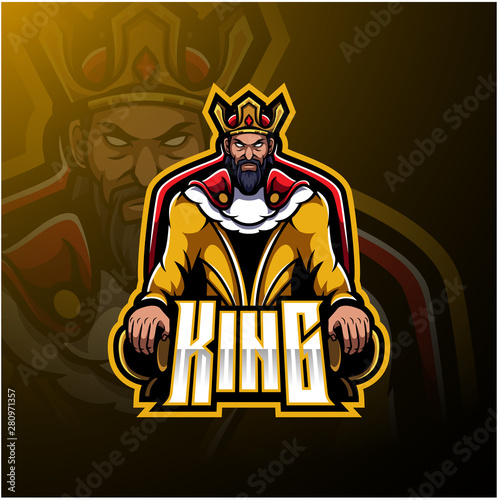 Canvas-taulu The King mascot logo design