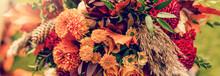 Autumn Bouquet With Cones