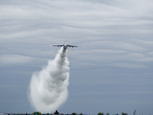 Water Bombing Ilyushin Il-76 MD Military And Civilian Cargo Transport, Firefighting Aircraft