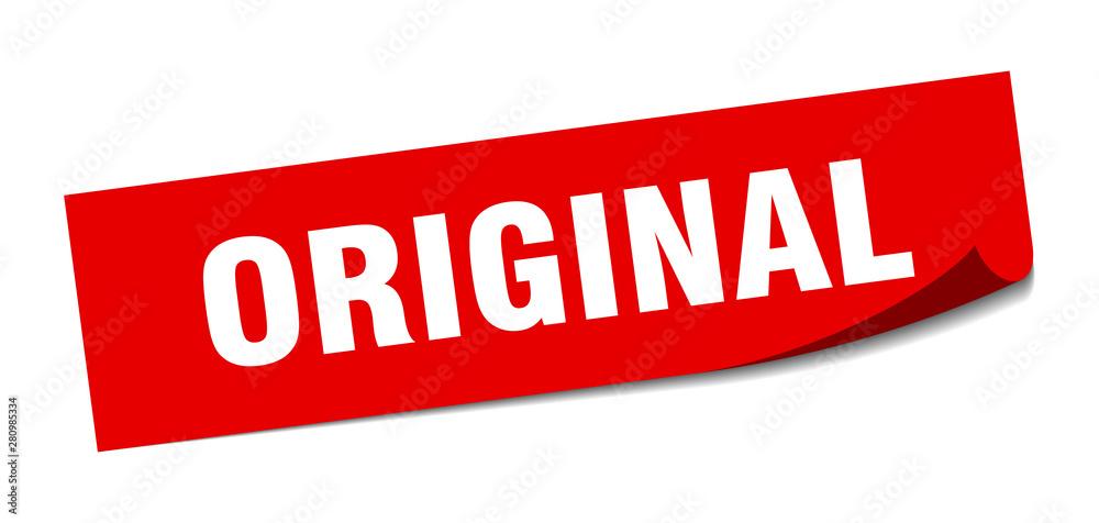 Fototapeta original sticker. original square isolated sign. original