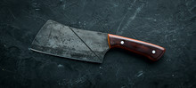 Kitchen Old Knife On A Black S...