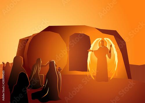 Obraz na plátně Angel appeared at Jesus' tomb
