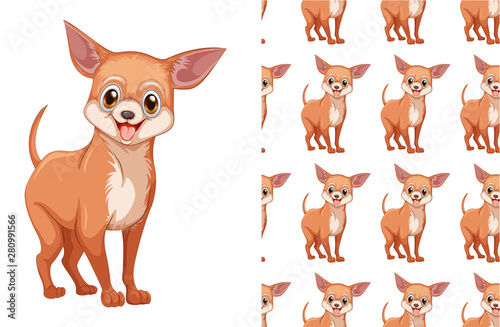 obraz lub plakat Seamless and isolated animal pattern cartoon