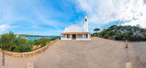 Photo  Stella Maris Church in Sardinia, Italy.