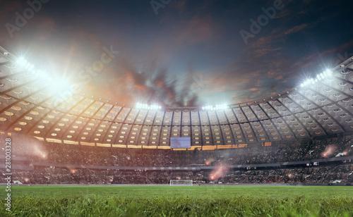 3D soccer stadium.