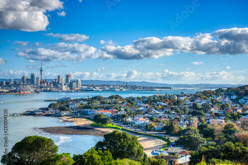 Auckland City Sunny Canvas Print