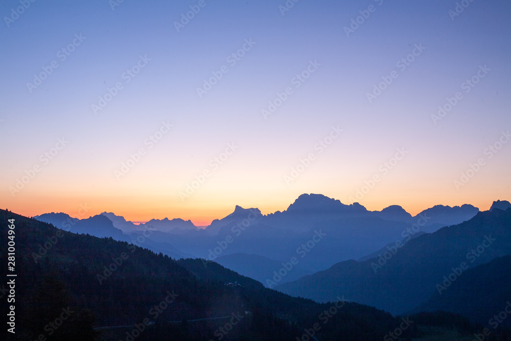 Fototapety, obrazy: dolomites Italian mountains among the most beautiful in the Trentino Alto Adige