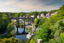 Knaresborough Viaduct And The River Nidd In Springtime, Yorkshire