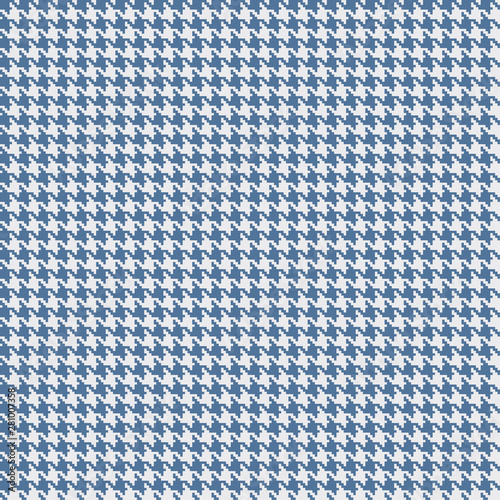 Blue and light grey houndstooth seamless pattern. Canvas Print