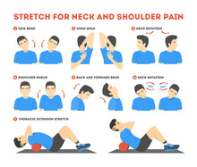 Neck And Shoulder Exercise. St...