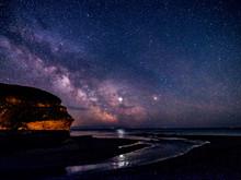 Milky Way And Jupiter Beyond Otter Head At Budleigh Salterton, Devon