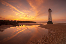 Perch Rock Lighthouse, New Brighton, Merseyside,The Wirral
