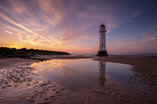Perch Rock Lighthouse With Dramatic Sky, New Brighton, Merseyside, The Wirral
