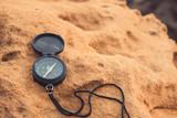 Compass on the beach
