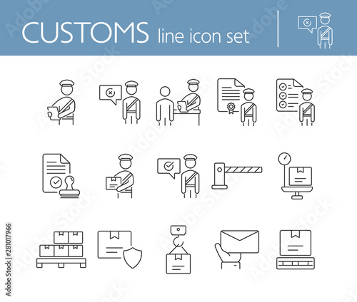Fotografía Customs icons