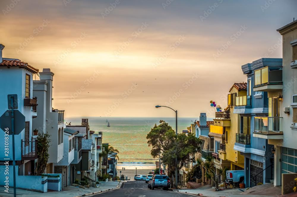 Fototapety, obrazy: huntington beach scenes and surroundings in november
