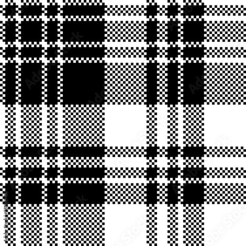 pixel-check-fabric-texture-black-white-seamless-pattern