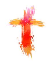 Grunge Painted Cross