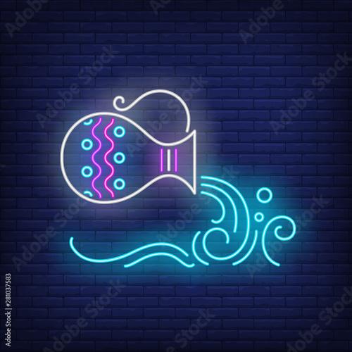 Photo Aquarius neon sign
