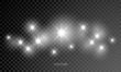 Star shine glow sparks, lens flare sparkle effect. Vector Christmas shiny glitter star rays, white light shine
