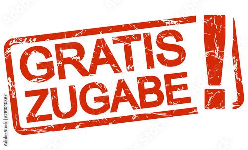 Fototapeta red stamp free addition (in german)