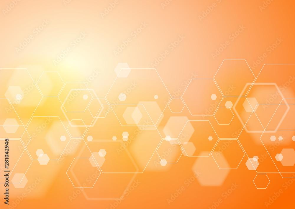 Fototapeta Abstract Orange Background, Vector Graphics