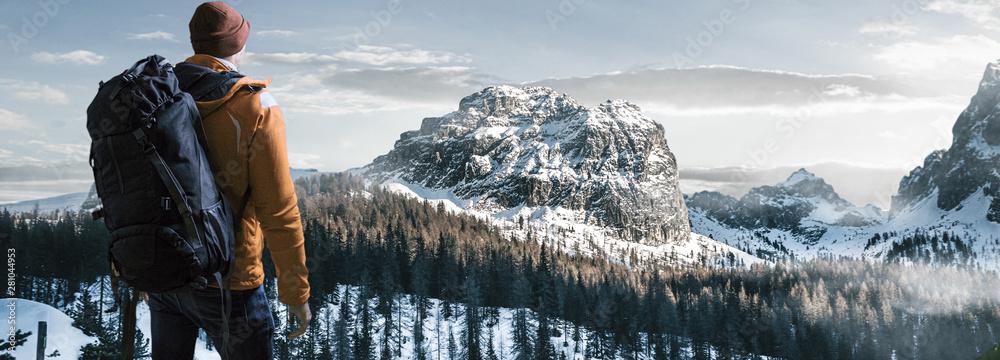 Fototapety, obrazy: Wander in Winterlandschaft