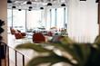 Empty Reception Area In Modern Open Plan Office
