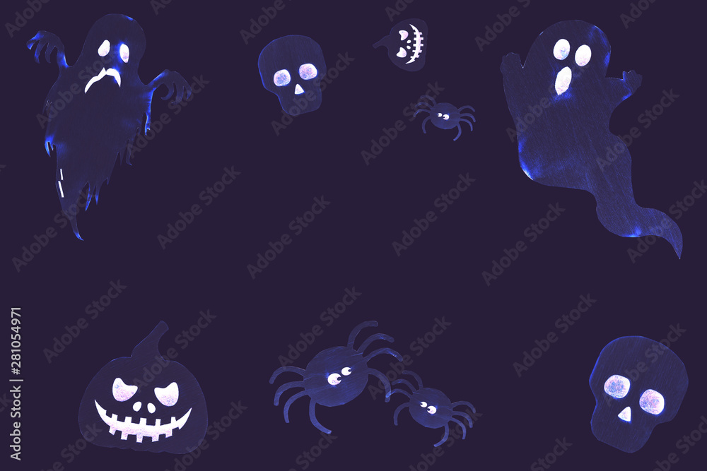 Contemporary art Halloween collage