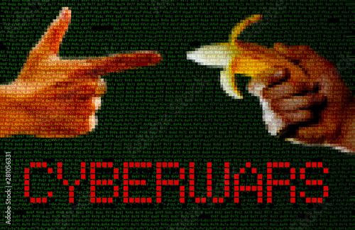 Photo  Cyberwars concept