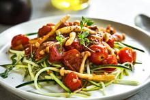 Zucchini Pasta With Mushrooms ...