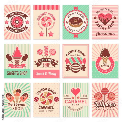 Fotografia Candy shop cards
