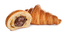 Fresh Croissants With Chocolat...