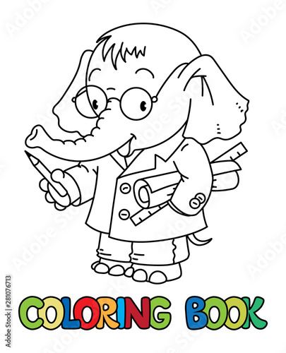 Elephant engineer ABC coloring book. Alphabet E - Buy this ...
